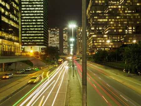 Brazil, City of Rio de Janeiro, Elevated view of the Avenida Almirante Barroso.