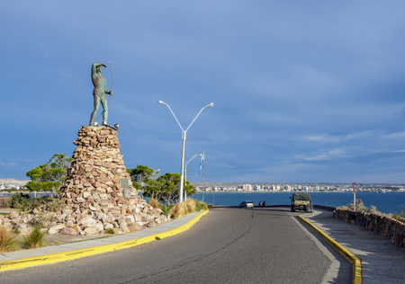 Tehuelche Monument, Puerto Madryn, The Welsh Settlement, Chubut Province, Patagonia, Argentina