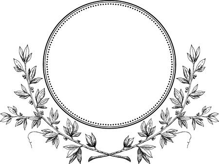 Royal laurel wreath vector