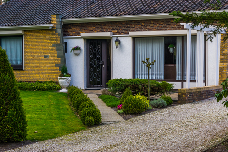 Photo pour Modern dutch luxurious home with a front garden, New architecture in the Netherlands - image libre de droit