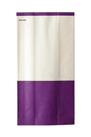 Puke bag isolated on white background
