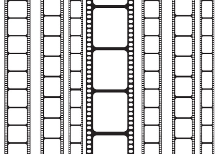 isolated 35 mm film strip
