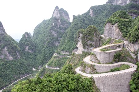 road to Tian Men Shan China