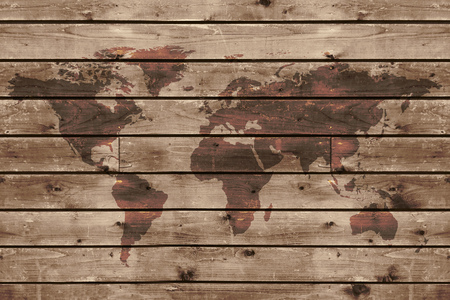 world map in wooden frame.: Royalty-free images, photos and ...