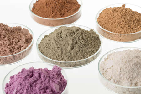 Photo for cosmetic clay/: yellow, purple, pink, red, white, green for Spa and bodycare - Royalty Free Image