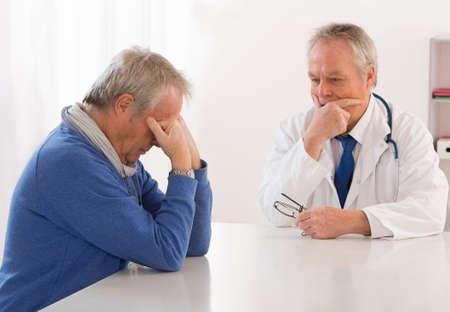 Depressed consultation with depressed man