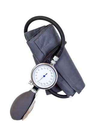 Photo pour Manual blood pressure sphygmomanometer isolated on white background - image libre de droit