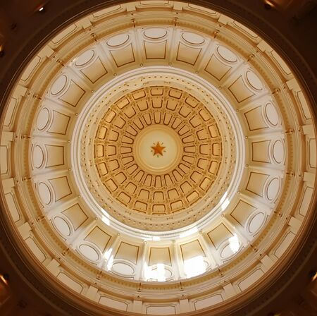 Interior dome of Texas Capitol in Austin TX