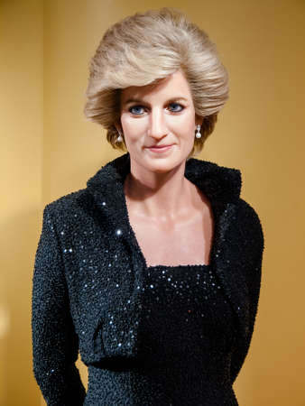 Diana, Princess of Wales wax statue at the famous Madame Tussaud's museum in Bangkok, Thailand.