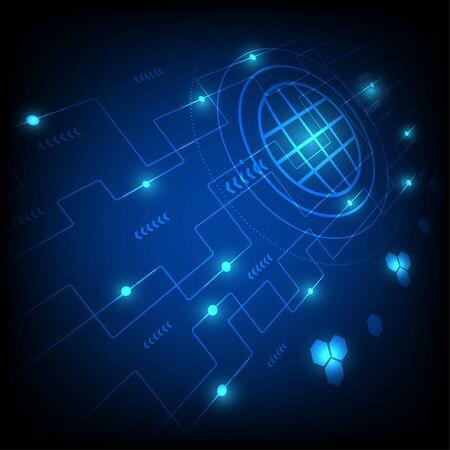 Ilustración de Abstract technology background concept science vector. - Imagen libre de derechos