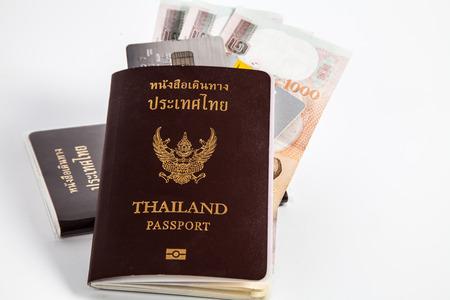 Passport ,Money, Card ready to travel