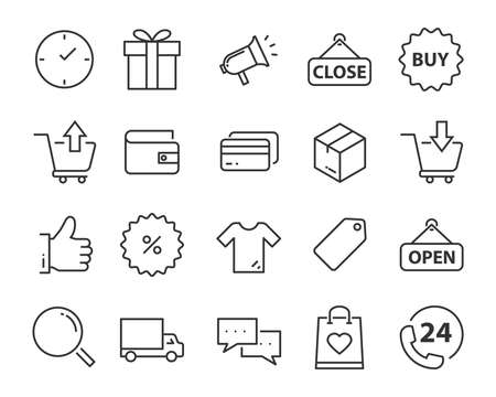 Ilustración de set of send icons, such as delivery, transport, mail, service - Imagen libre de derechos