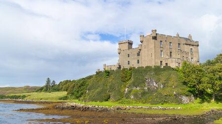 Impressive medieval Dunvegan Castle of the Clan MacLeod in Dunvegan, Scotland