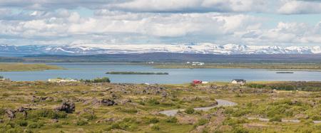 Spectacular volcanic landscape around Lake Myvatn, Iceland