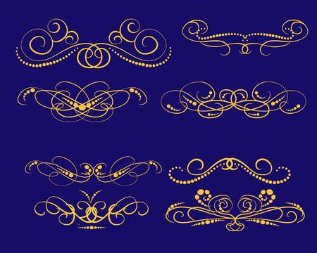 Photo pour Set of decorative florish dividers, borders - image libre de droit