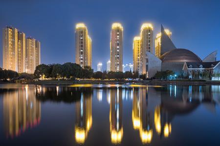 Kunshan city night viewの素材 [FY310122180967]