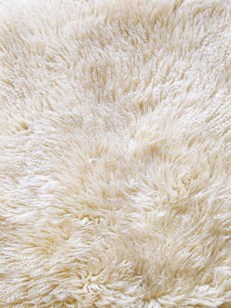 The wool texture of a fluffy sheepsking rug