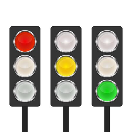 Illustration for Traffic light icon - vector. Traffic light icon isolated. Shiny traffic light icon. - Royalty Free Image