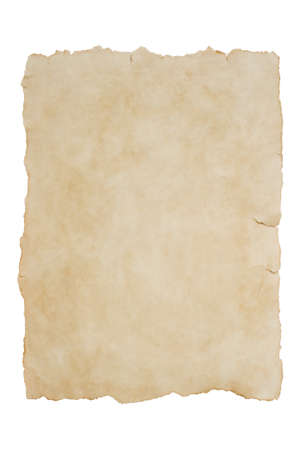 Photo pour Old piece of paper on an isolated white background mock up - image libre de droit