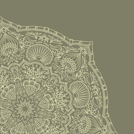 vintage ornamental background with place for text.