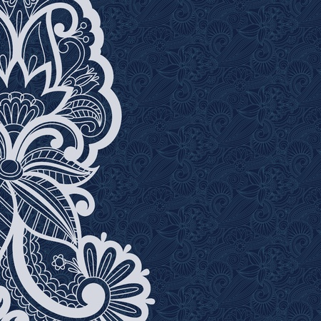 illustration with vintage pattern for print.