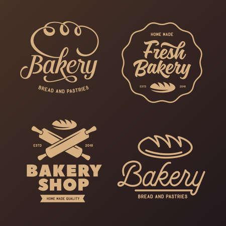 Vektor für Bakery emblems set. Vector vintage illustration. - Lizenzfreies Bild