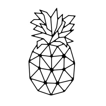Illustration pour Geometrical polygonal pineapple. Vector illustration. - image libre de droit