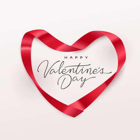 Illustration pour Happy Valentines Day greeting card. Vector illustration. - image libre de droit