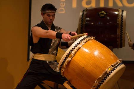 Golden, Co. 02/01/2013 Denver Taiko Drummer at The Asian Cultural Festival