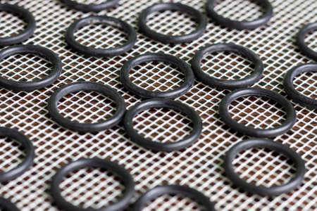A set of rubber O-rings used for sealing in hydraulic and pneumatic mechanisms.