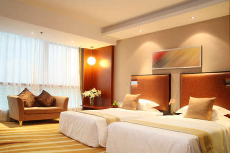 Hotel room photos, standard room, decorative design