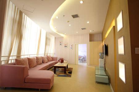 Warm and bright indoor hall