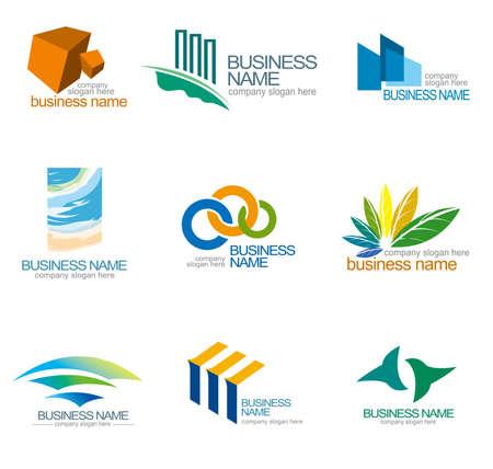 Abstract design templates, corporate identity design