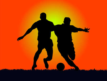 football athlete, in the sun resist of vehemence.