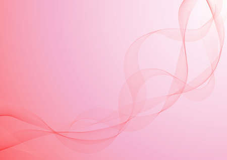 red ribbon, in the gradient, pink background