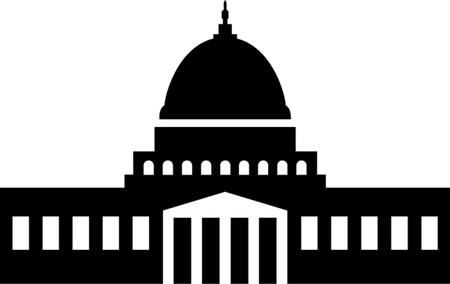 Illustration of the U S  Capitol, Washington D C   silhouette