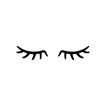 Illustration pour Vector eyelashes. Closed eyes. Vector icon Cute design - image libre de droit