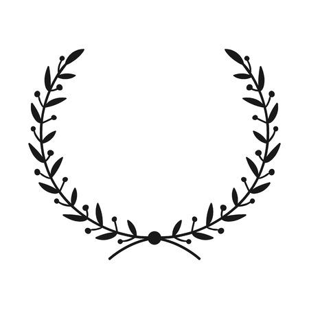 Ilustración de Laurel wreath. Hand drawn vector round frame for invitations, greeting cards, quotes, logos, posters and more. Vector illustration - Imagen libre de derechos