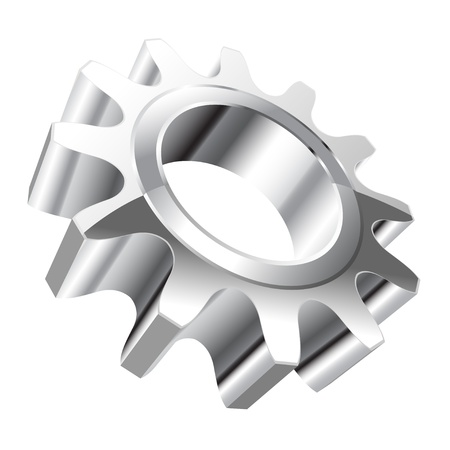 Illustration of gear on a white background.