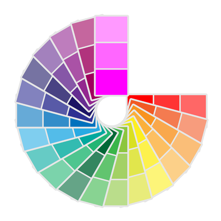 Illustration for Color palette icon isolated on white background. Vector illustration - Royalty Free Image