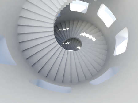 Way down inside of tallest tower ever