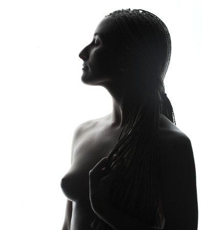 beautiful woman topless