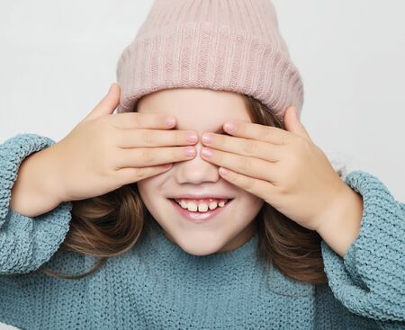 Photo for lifestyle, happyness and people concept: little girl with closed eyes - Royalty Free Image