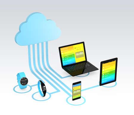 Photo pour Cloud computing technology concept for healthcare  - image libre de droit