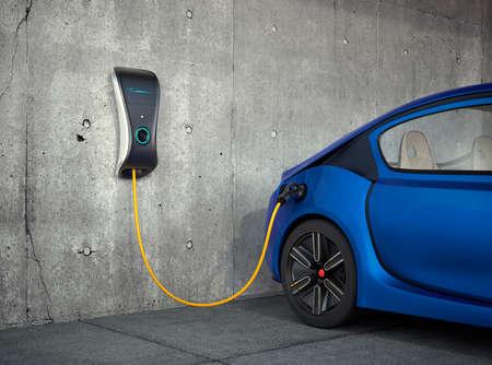 Photo pour Electric vehicle charging station for home. - image libre de droit