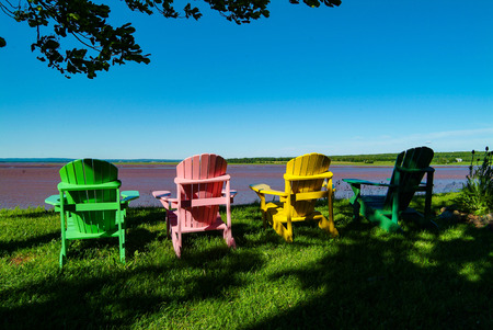 Viewing chairs for Tidal Bore, Novia Scotia, Canada