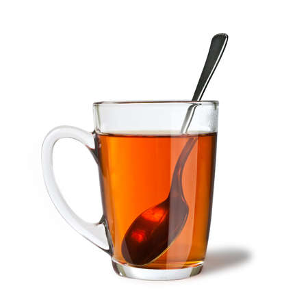 isolated cup of tea with spoon