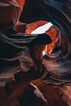 Foto de Upper Antelope Canyon, 'the place where water runs through rocks - Imagen libre de derechos