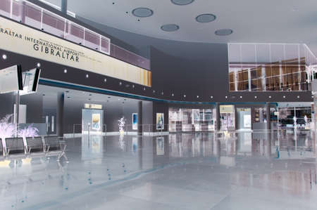the lobby area of the new international airport terminal in gibraltar