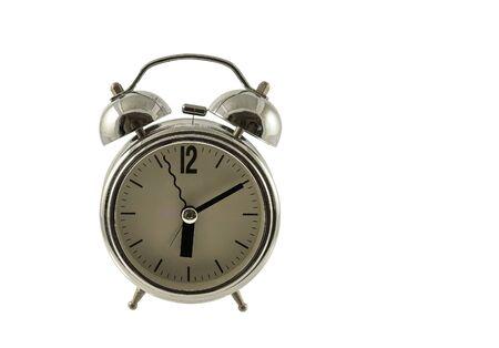 Photo pour retro alarm clock on a white background - image libre de droit